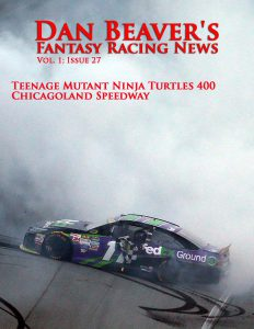JOLIET, IL - SEPTEMBER 20: Denny Hamlin, driver of the #11 FedEx Ground Toyota, celebrates with a burnout after winning the NASCAR Sprint Cup Series myAFibRisk.com 400 at Chicagoland Speedway on September 20, 2015 in Joliet, Illinois. (Photo by Matt Sullivan/Getty Images)