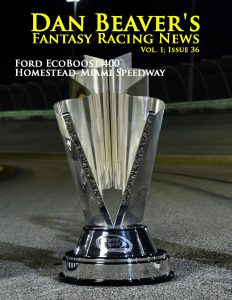 HOMESTEAD, FL - NOVEMBER 22: The Sprint Cup Series Championship trophy (C), XFINITY Series Championship trophy (R) and Camping World Truck Series Championship trophy are displayed at Homestead-Miami Speedway on November 22, 2015 in Homestead, Florida. (Photo by Jared C. Tilton/NASCAR via Getty Images)